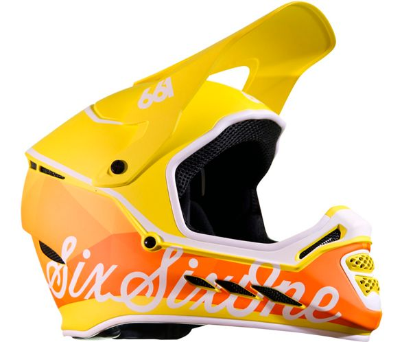BMX Helmet Tundra White Reset SixSixOne 661 Full Face MTB Mountain Bike