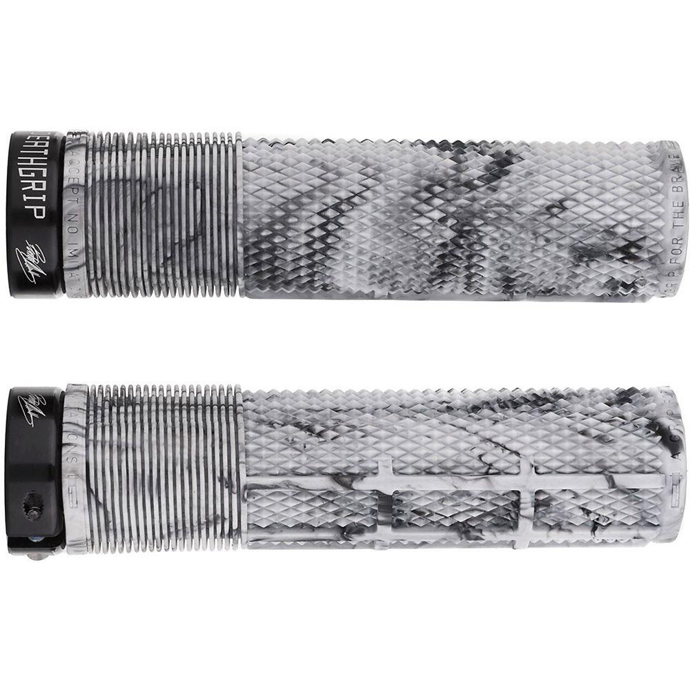 DMR Brendog Death Grip Flangeless MTB Grips - Snow Camo - 135mm, Snow Camo