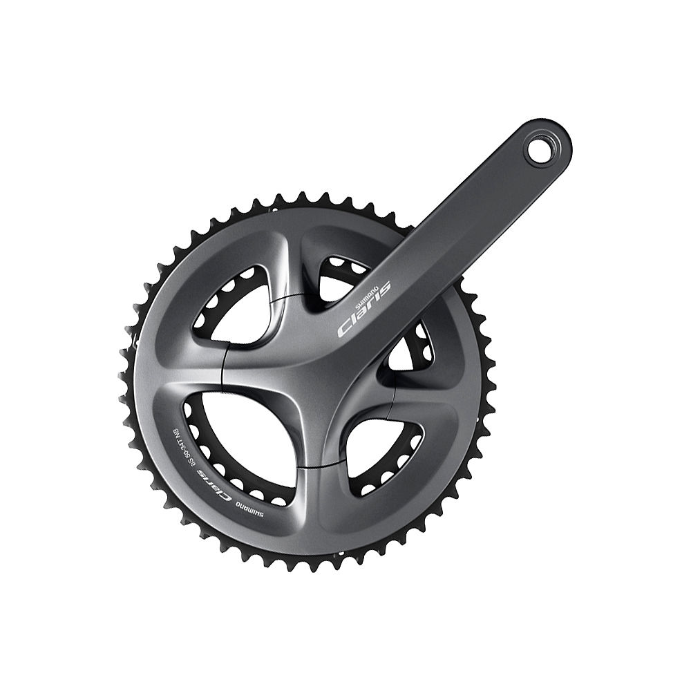 Shimano FC-R2000 Claris Compact 8 Speed Chainset - Silver - 110mm, Silver