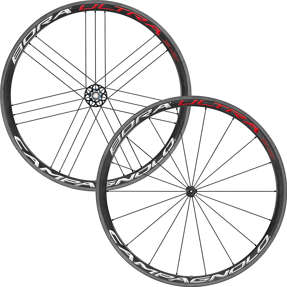 Juego de ruedas Campagnolo Bora Ultra 35 (clincher) - Bright Label - Shimano, Bright Label