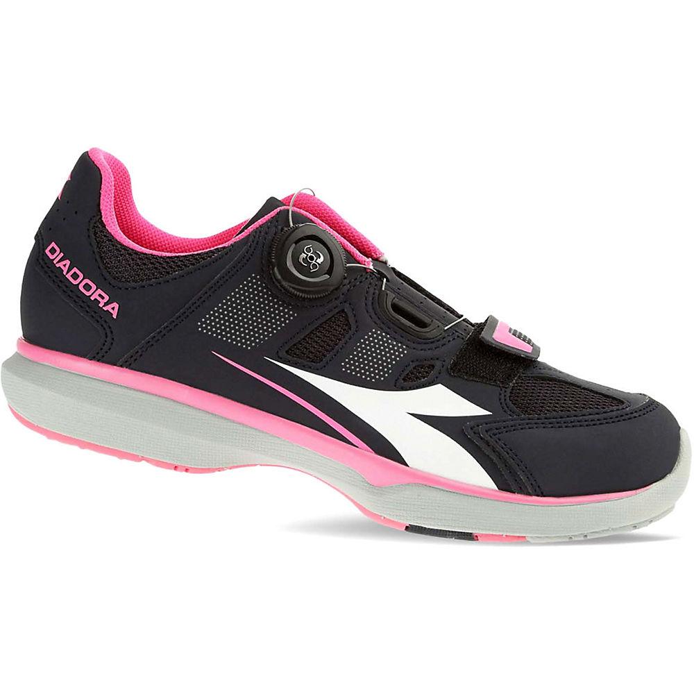 Image of Chaussures route Diadora Diadora Gym Femme 2017 - Black Smoke - Pink - White - EU 36, Black Smoke - Pink - White
