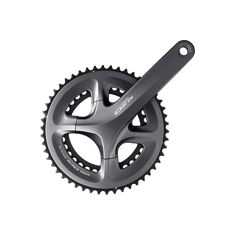 Shimano Claris R2000 Compact 8 Speed Chainset - Silver - 110mm, Silver