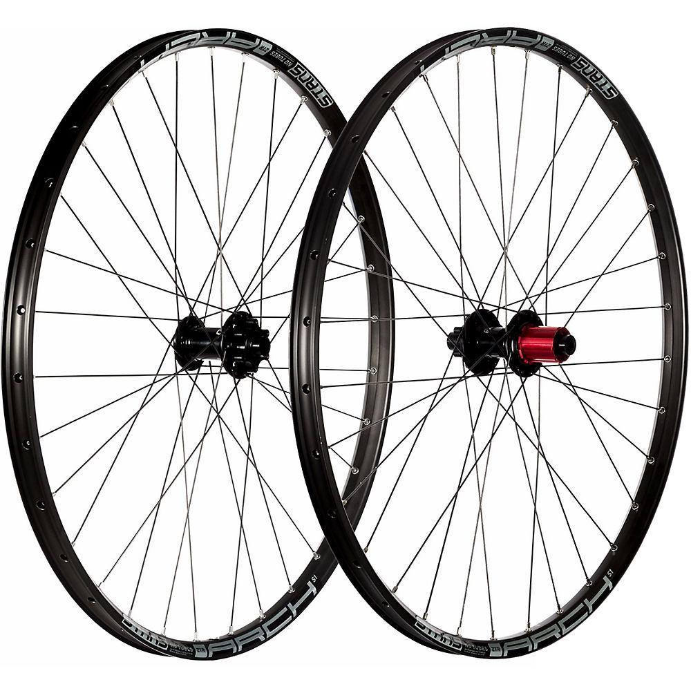 Stans No Tubes Arch S1 Mountain Bike Wheelset - Black - Grey - 15x100mm / 12x142mm  Black - Grey