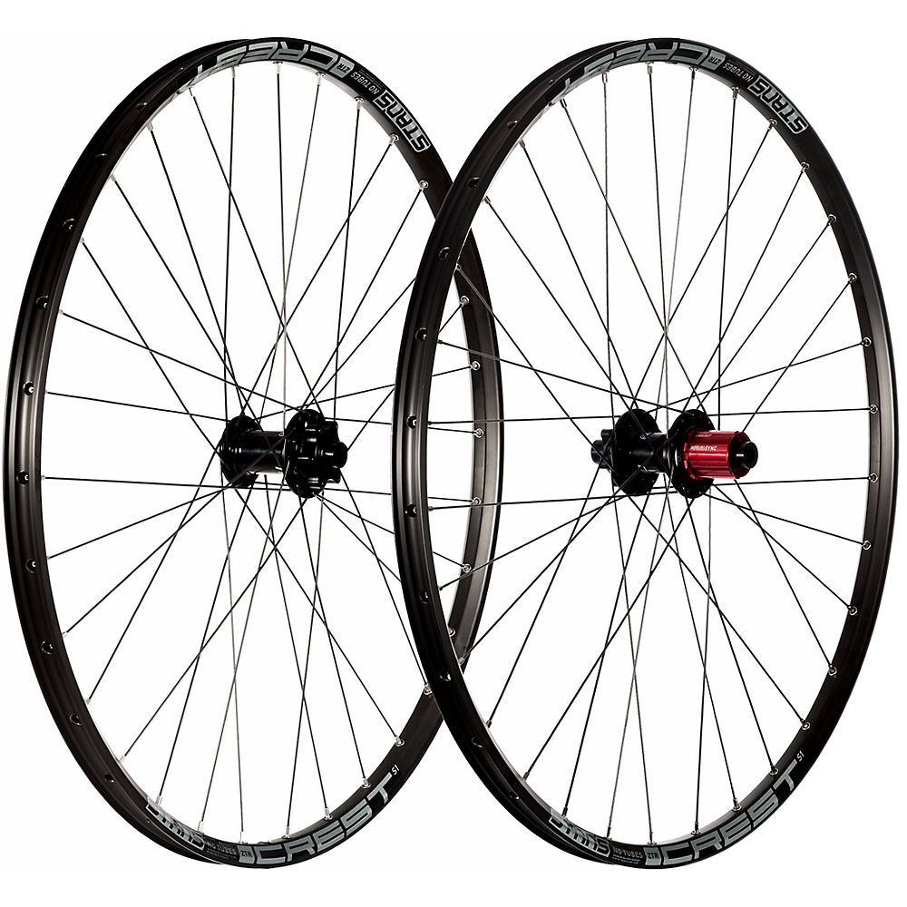 Stans No Tubes Crest S1 Mountain Bike Wheelset - Black - Grey - 12 X 142mm  Black - Grey