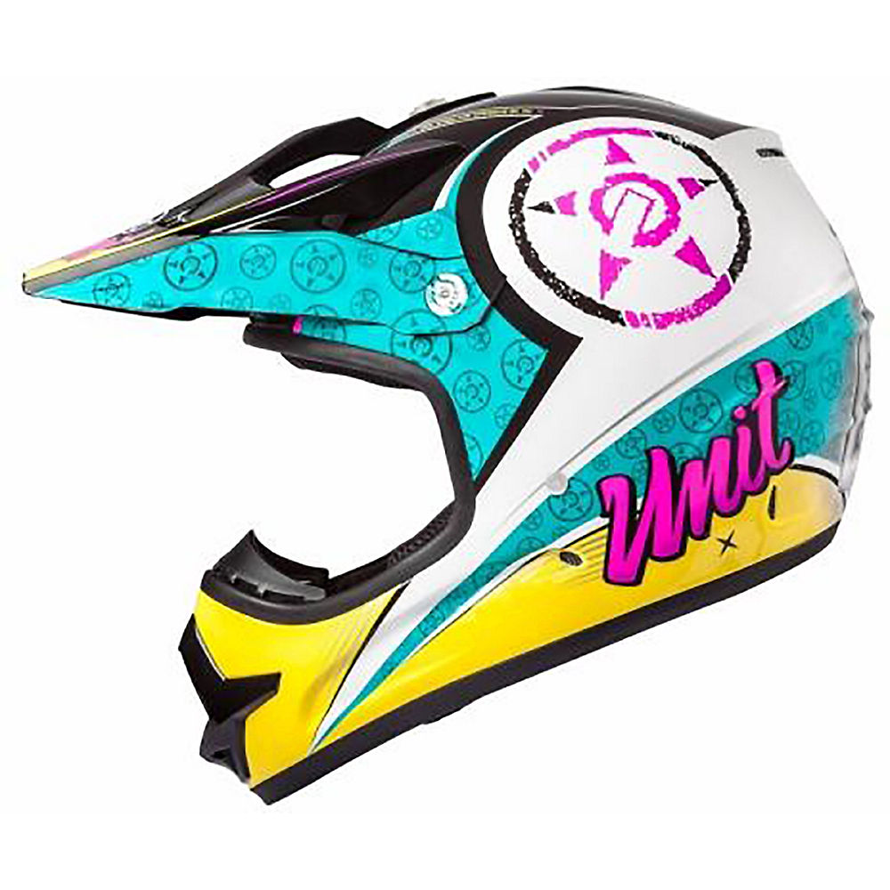 Image of Casque Unit X2.6 Linguistic - Pink - Teal - M, Pink - Teal