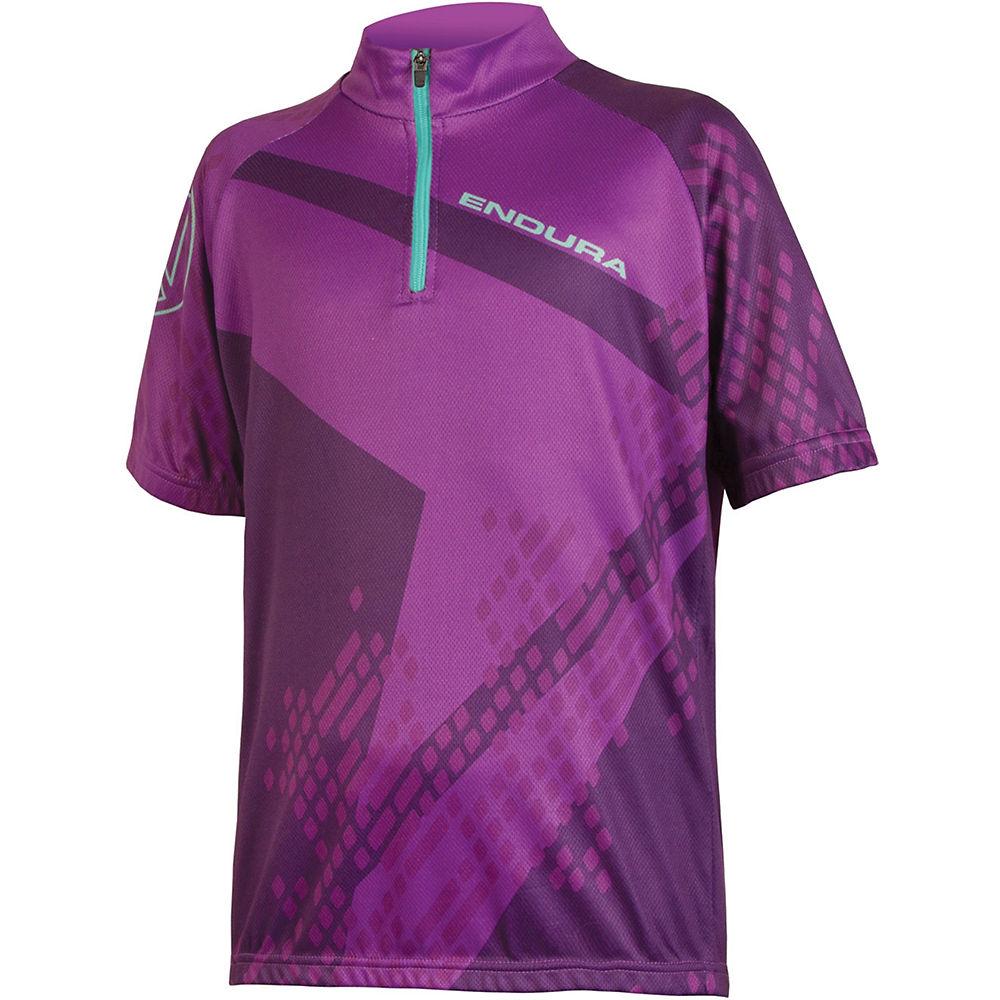 Endura Kids Ray Jersey - Purple, Purple