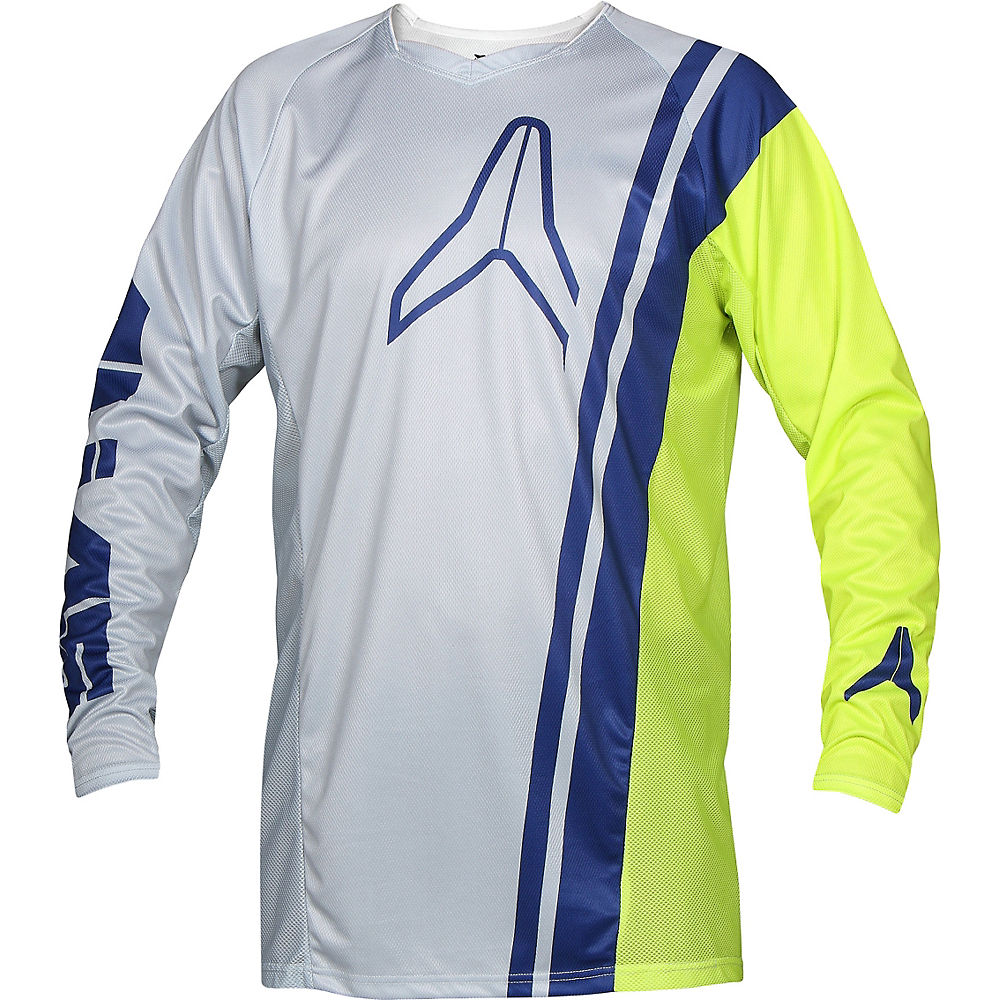 Image of Maillot à manches longues VTT Alias A1 Offset 2018 - Grey - Chartreuse