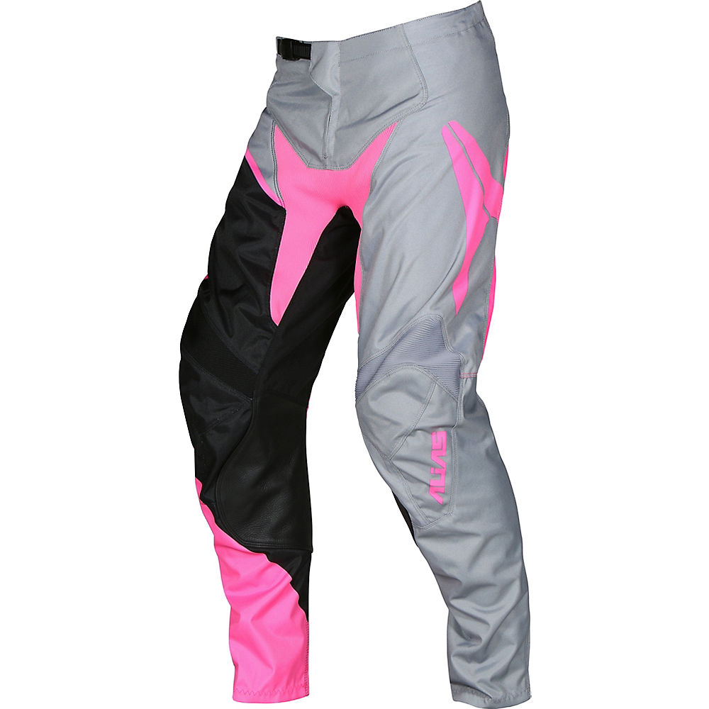 "Image of Pantalon Alias DH & Freeride A2 Burst 2018 - Gris - Rose - 34"", Gris - Rose"