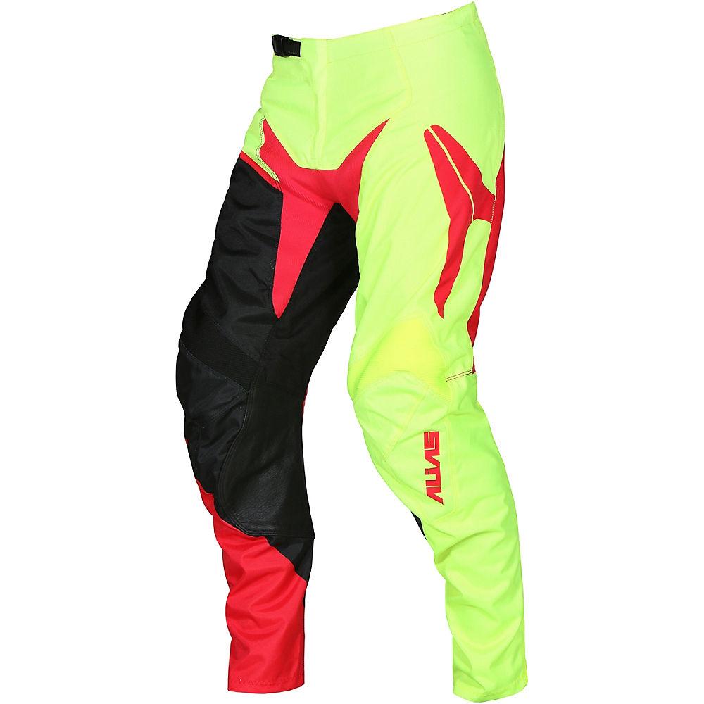"Image of Pantalon Alias DH & Freeride A2 Burst 2018 - Jaune néon - Rouge - 32"""