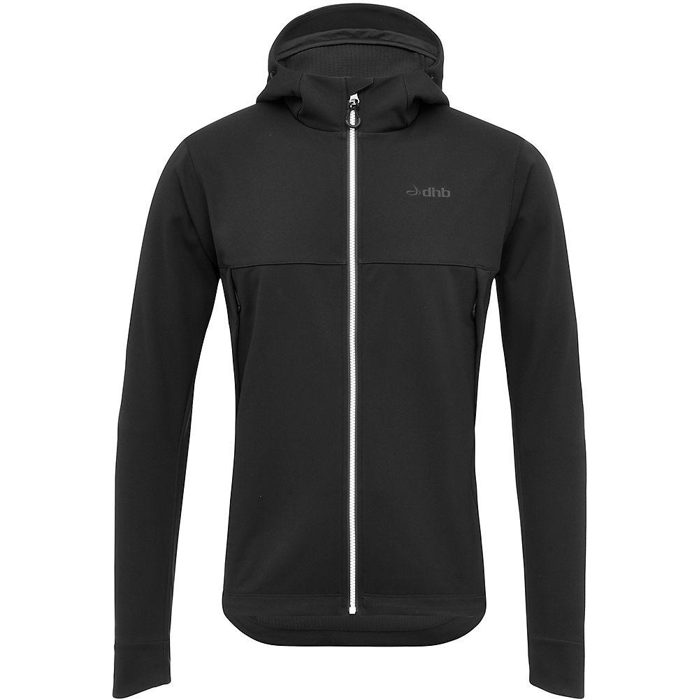 dhb MTB Trail Hooded Softshell Jacket – Black – XL, Black
