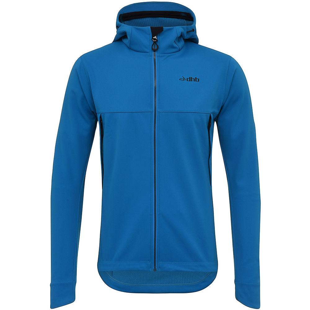 dhb MTB Trail Hooded Softshell Jacket – Blue – XL, Blue