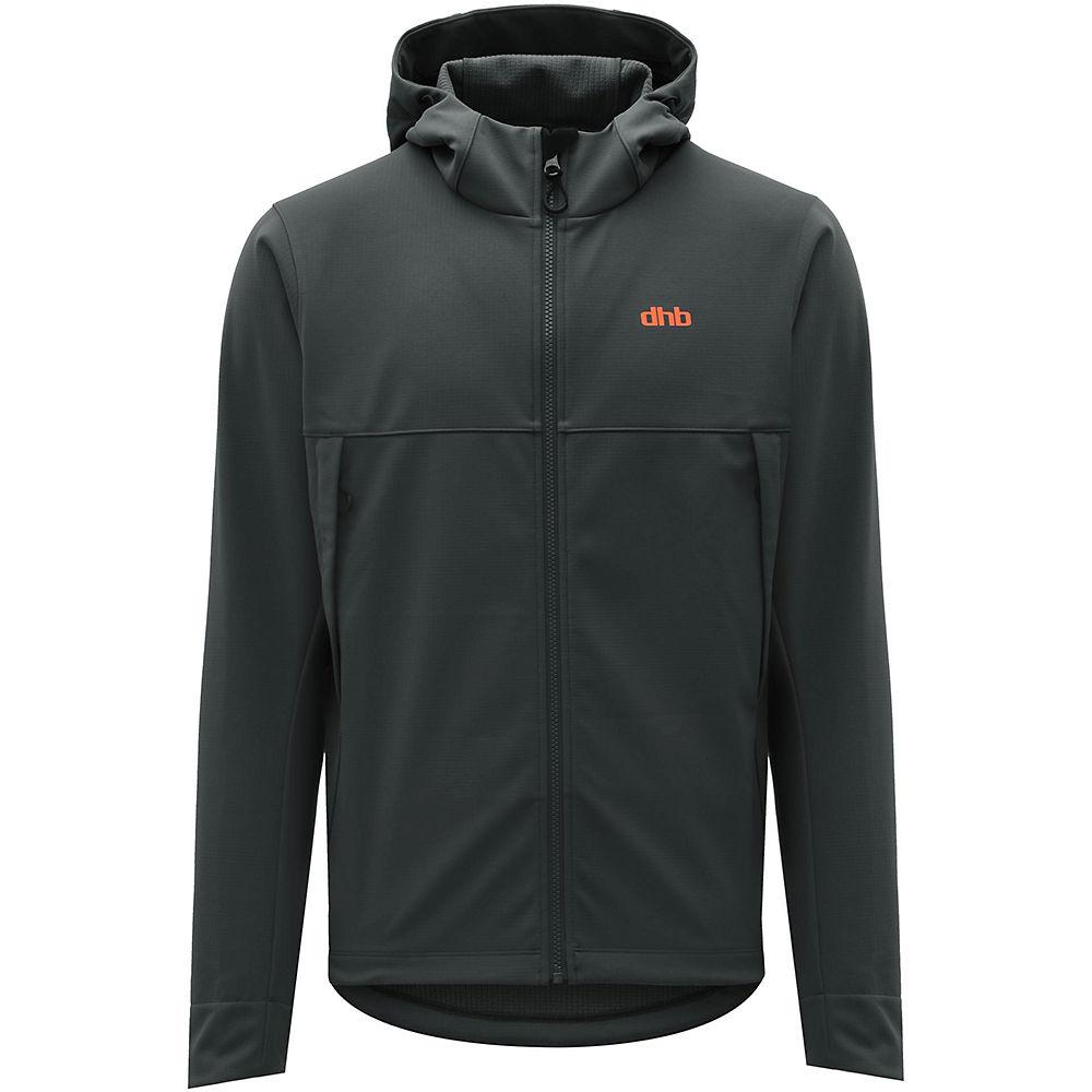 dhb MTB Trail Hooded Softshell Jacket – Grey – XL, Grey