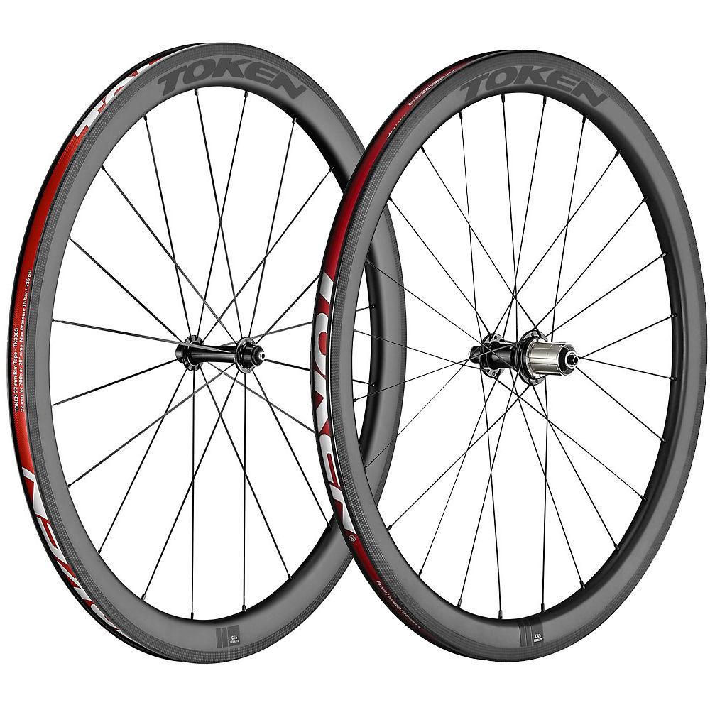 Token C45r Carbon Clincher Wheelset - Shimano  Carbon