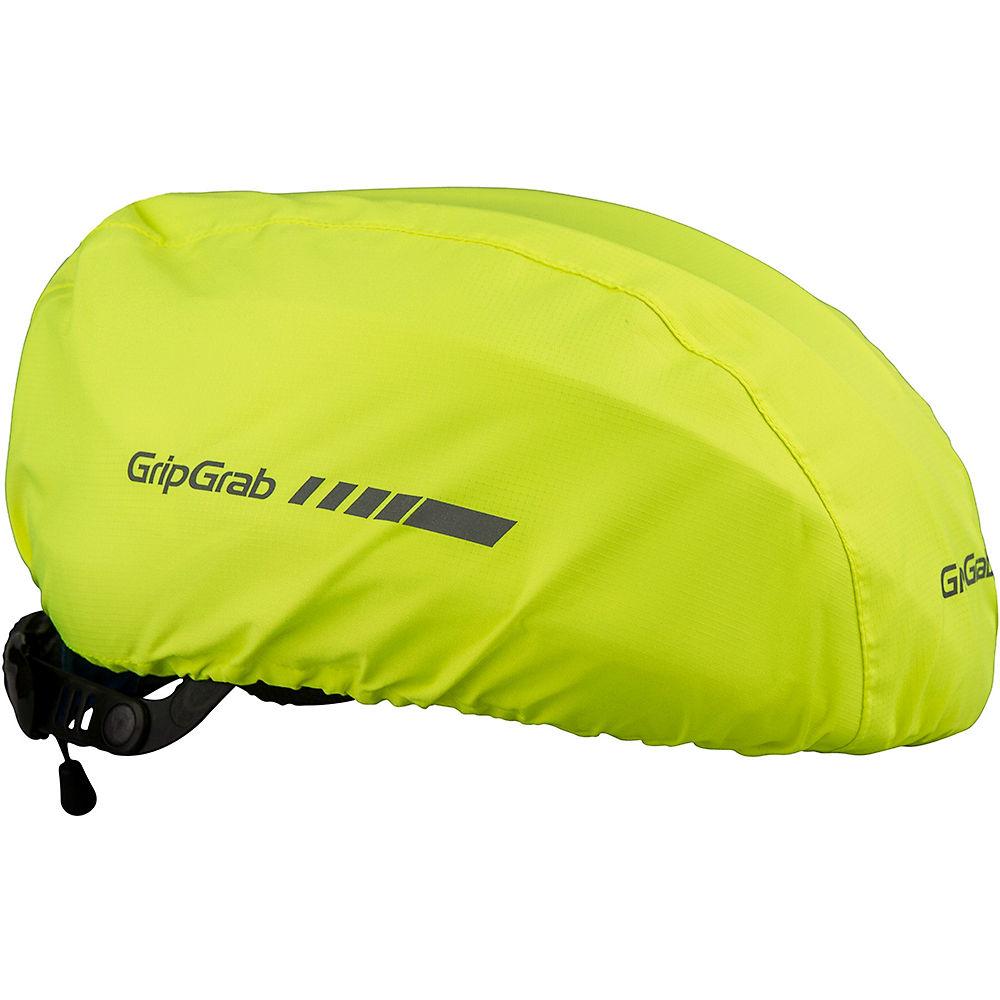 GripGrab Waterproof Hi-Vis Helmet Cover - Hi Vis Yellow - One Size, Hi Vis Yellow