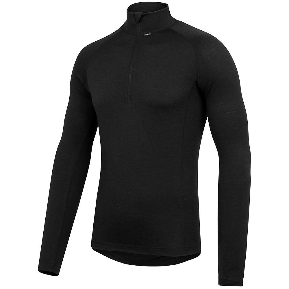 Camiseta interior con cremallera en el cuello dhb Merino - Gris oscuro - XXL, Gris oscuro