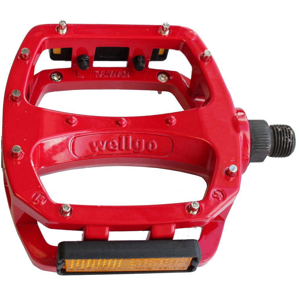Wellgo Lu 987u Flat Pedals - Red  Red