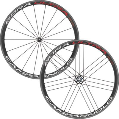CAMPAGNOLO Bora Ultra 35 Wheelset Tubular Campagnolo With Br-Bo500 Brake Pads Red-White 700c