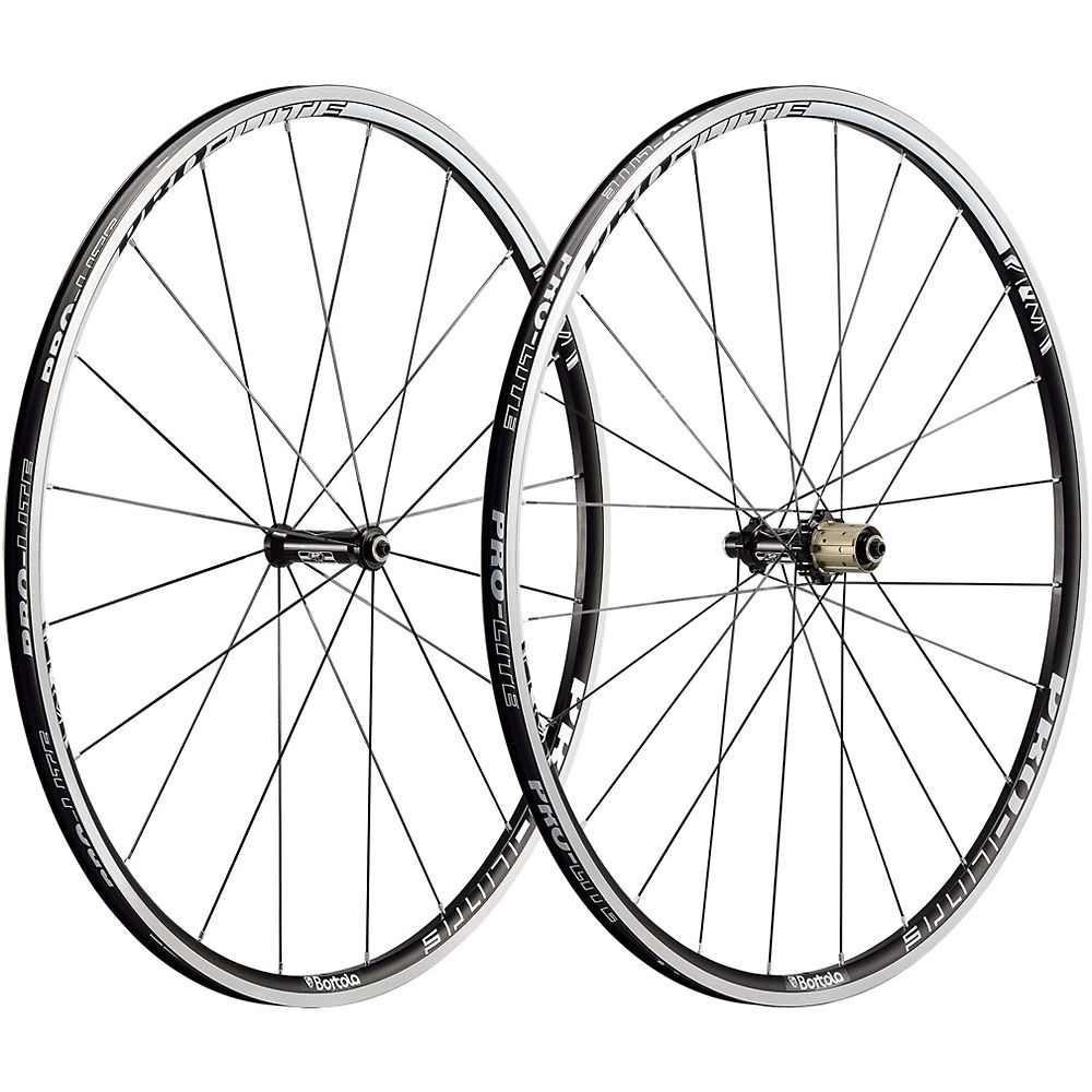 Pro-lite Bortola A21 Alloy Clincher Wheelset - Black-white - Shimano Freehub  Black-white