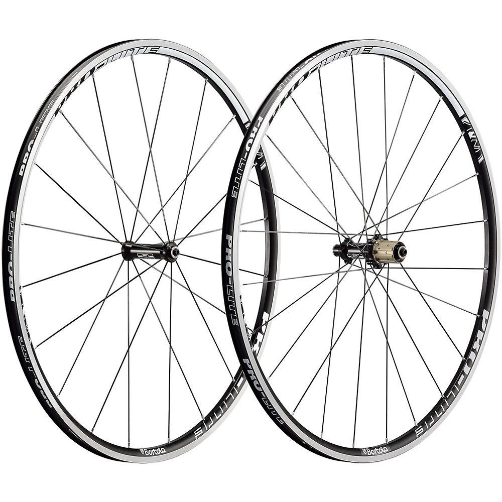 Pro-lite Bortola A21 Alloy Clincher Wheelset - Black-white - Shimano Freehub  Black-white