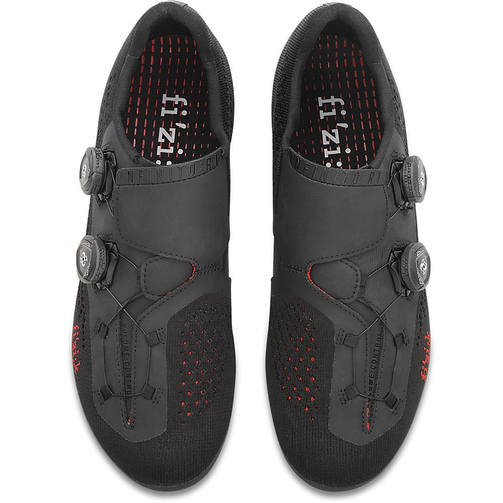 Fizik R1 Infinito Knit Road Shoe - Black-red - Eu 39  Black-red