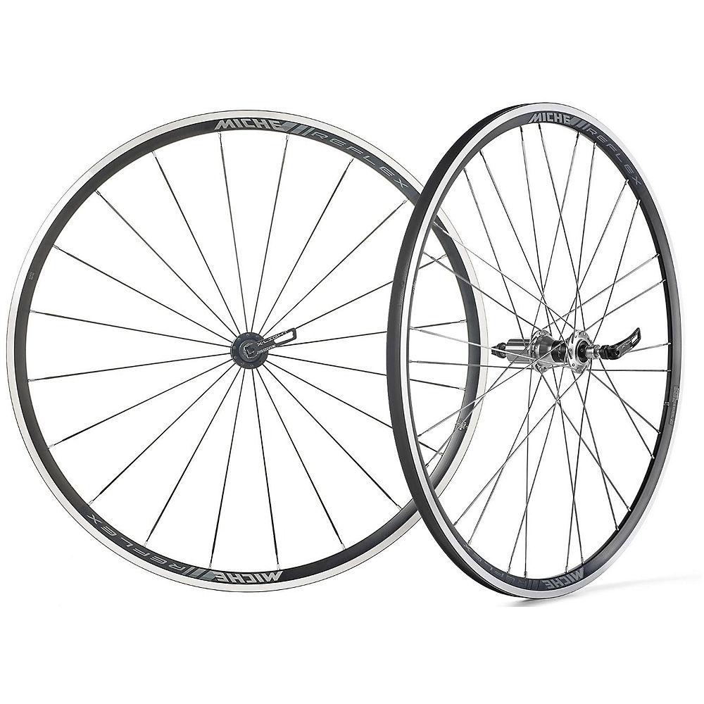 Miche Reflex RX7 Wheelset 2017 – Black-Silver – Campagnolo, Black-Silver