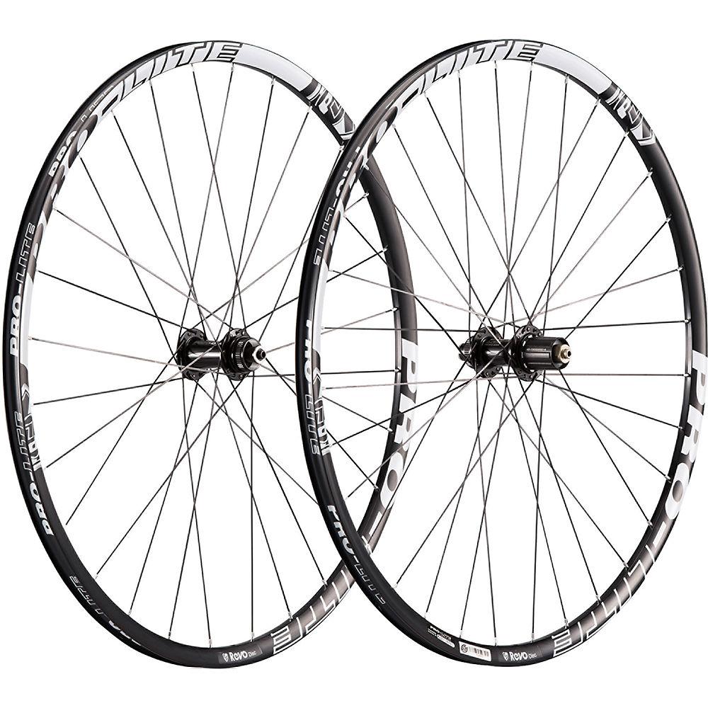 Image of Paire de roues de route Pro Lite Revo A21W (alliage, à disque) - Noir - blanc - Campagnolo