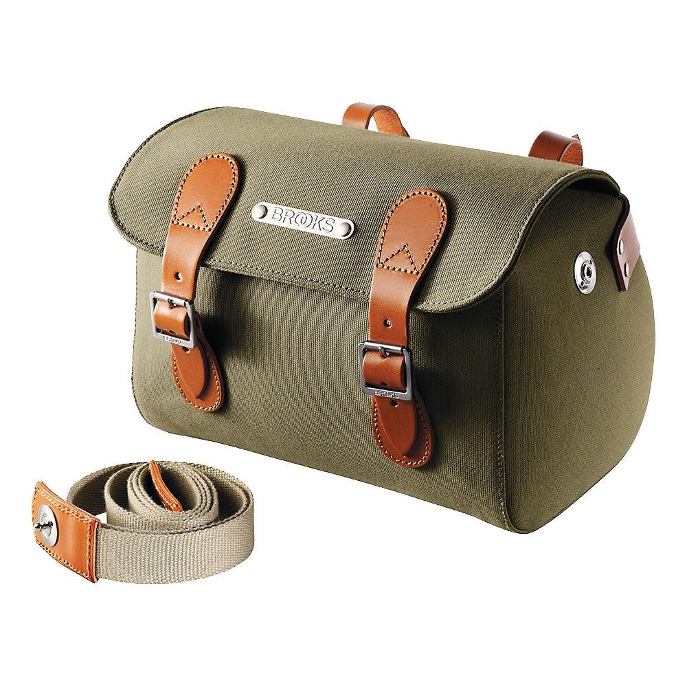 Brooks England Millbrook Saddle Bag – Green – Honey – One Size, Green – Honey