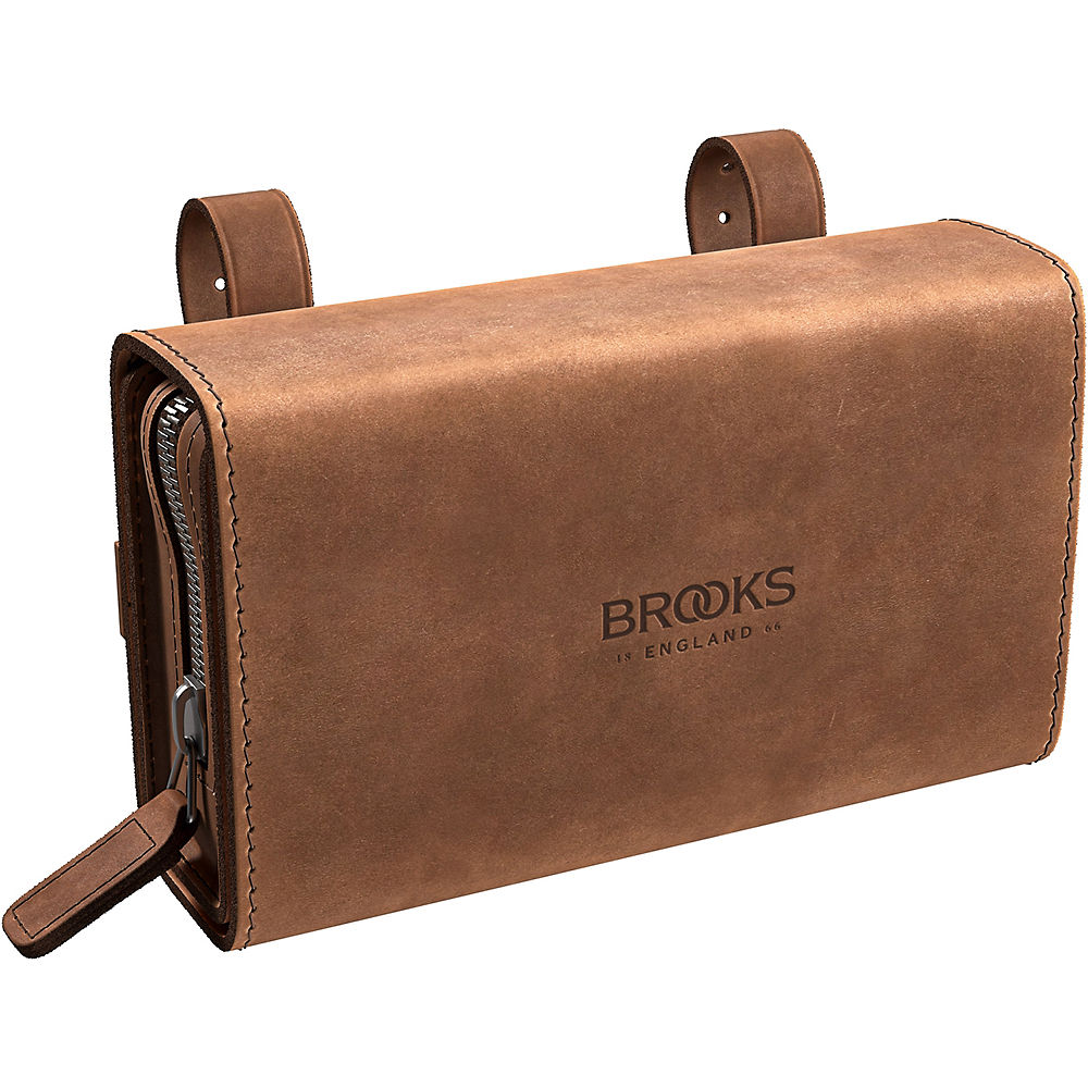 Brooks England D Shaped Pre-Aged Saddle Bag – Brown – One Size, Brown