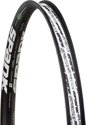 Spank 350 Vibrocore MTB Rim - Black - 28H, Black | bike rim