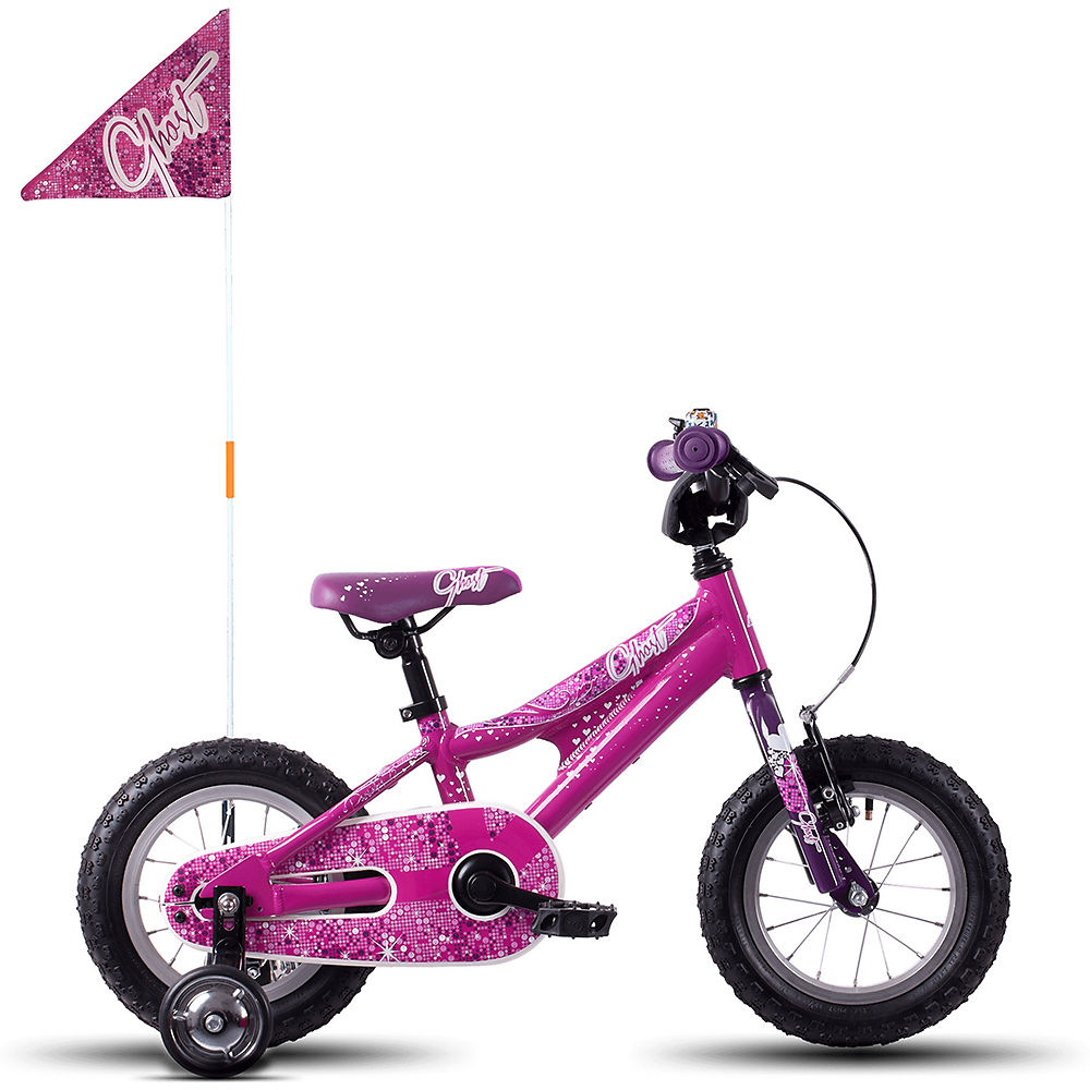 """Image of Vélo Ghost Powerkid 12"""" Fille 2018 - Fuchsia Pink-Violet-Star White"""