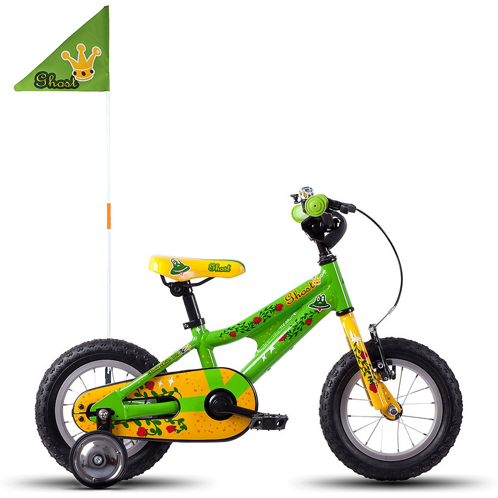"""Image of Vélo Ghost Powerkid 12"""" Fille 2018 - Riot Green-Cane Yellow-Riot Red"""