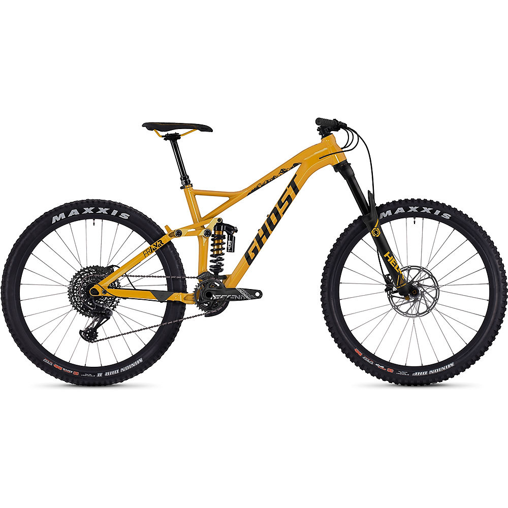 Bici biammortizzata Ghost FR AMR 8.7 2019 - Spectra Yellow-Night Black