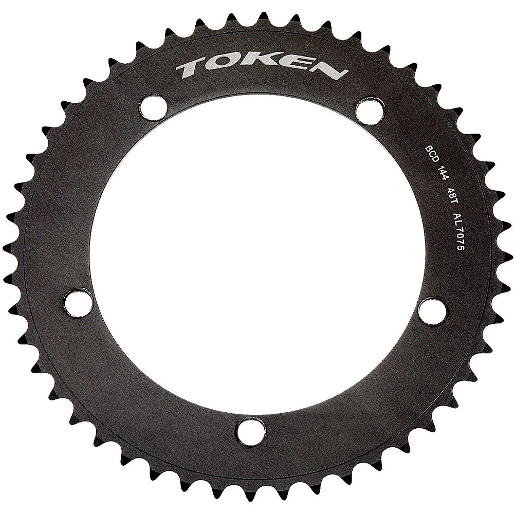 Token Tk140 Track Chainrings - Black - 5-bolt  Black