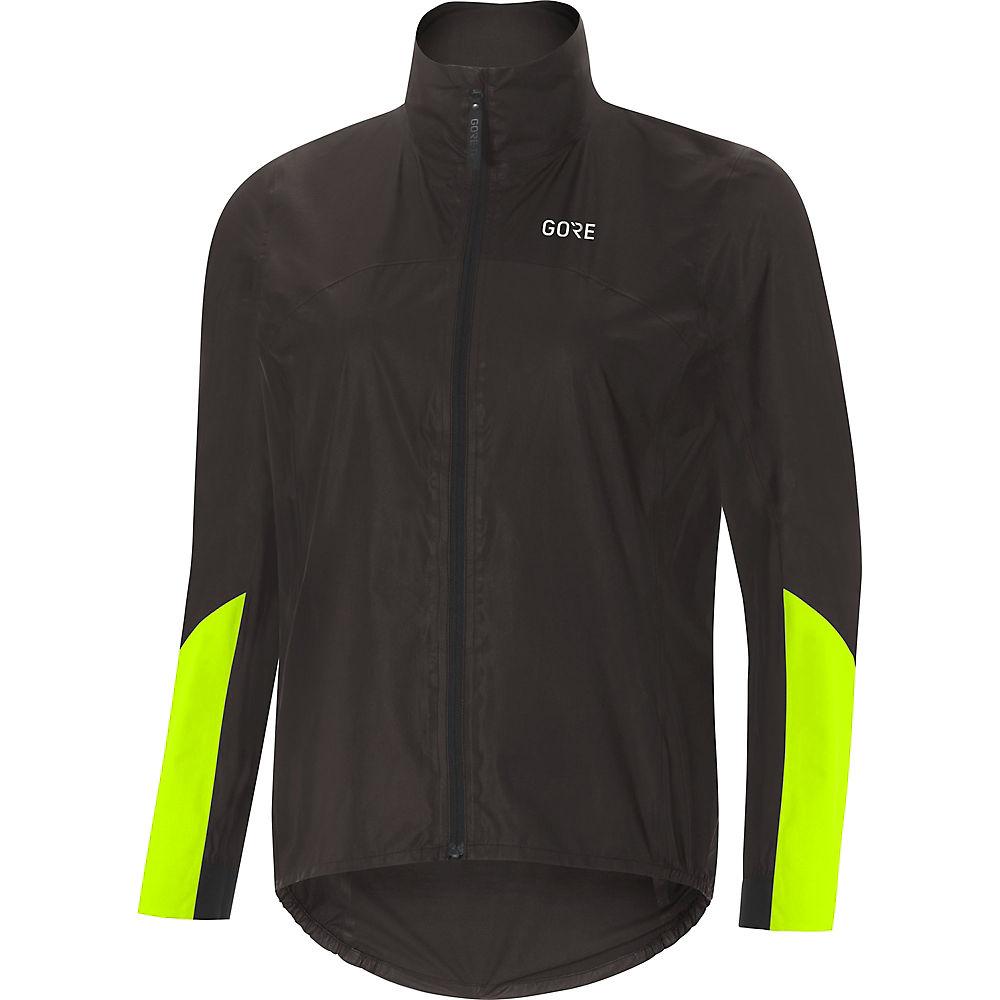 Gore Wear Women's C7 Gore-Tex Shakedry Viz Jacket - Black-Neon Yellow - XS, Black-Neon Yellow