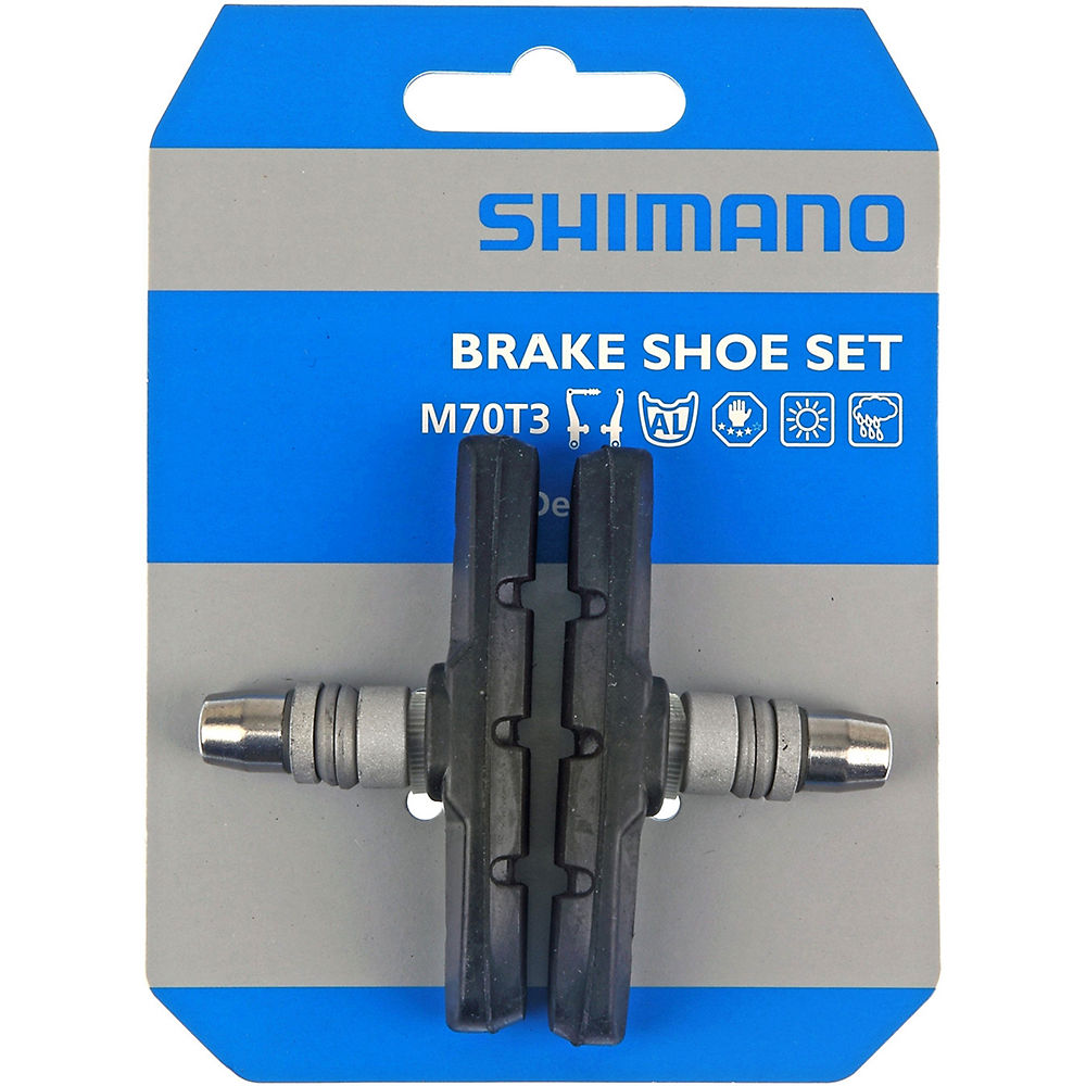 Shimano M600 One Piece Brake Blocks - Black - LX / Deore / Alivio V-brake, Black