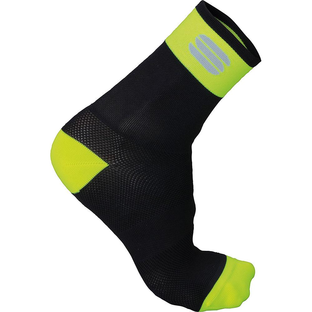 Sportful Bodyfit Pro 12 Socks  - Black-yellow Fluo  Black-yellow Fluo