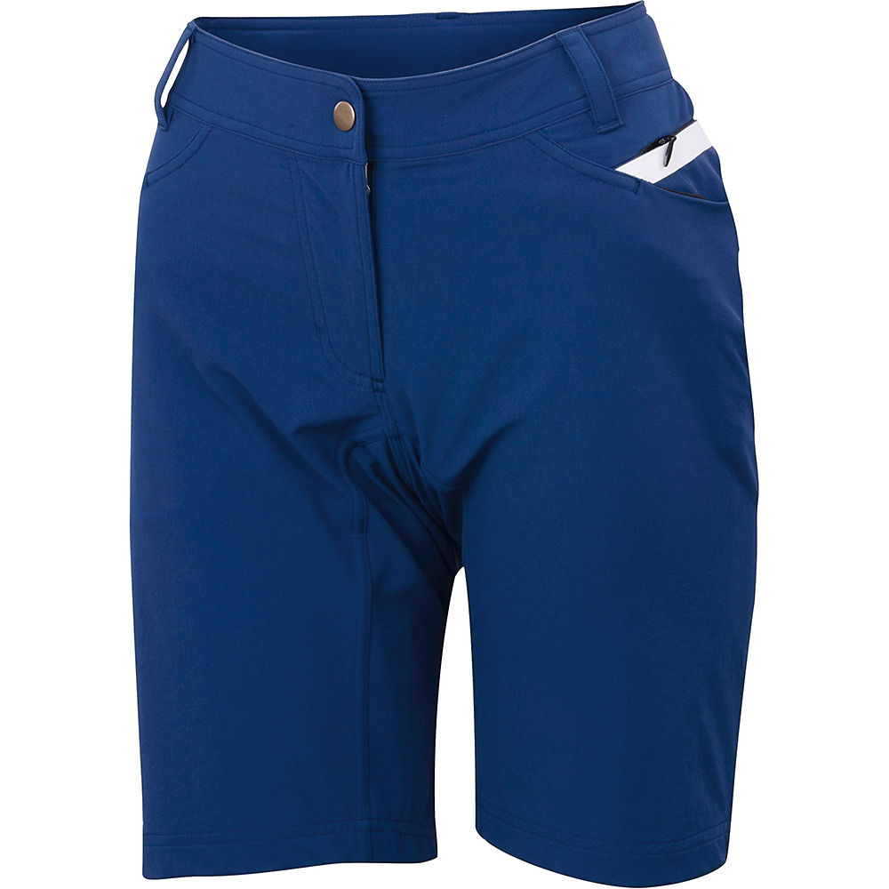 Sportful Womens Giara Over Shorts - Blue Twilight-white  Blue Twilight-white