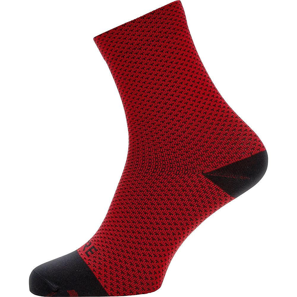 Gore Wear C3 Dot Mid Socks - Red-black  Red-black