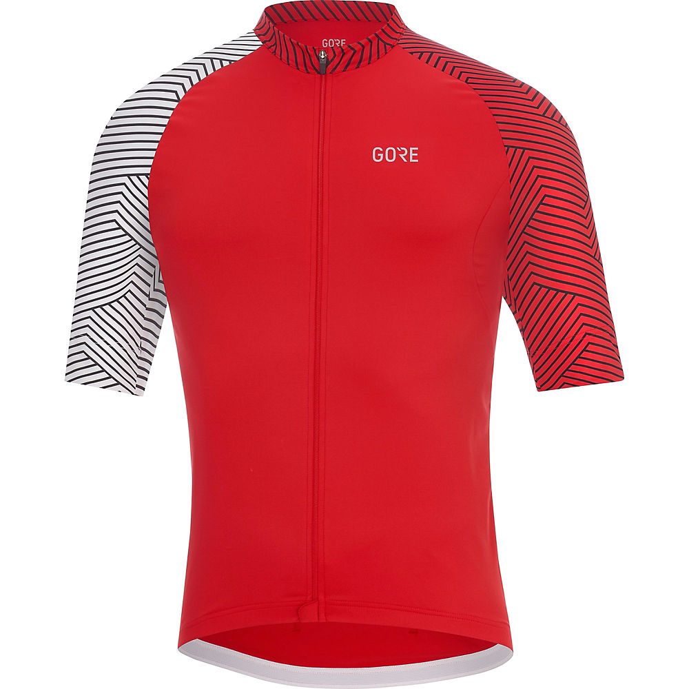 Gore Wear C5 Optiline Jersey - Red-white - Xl  Red-white