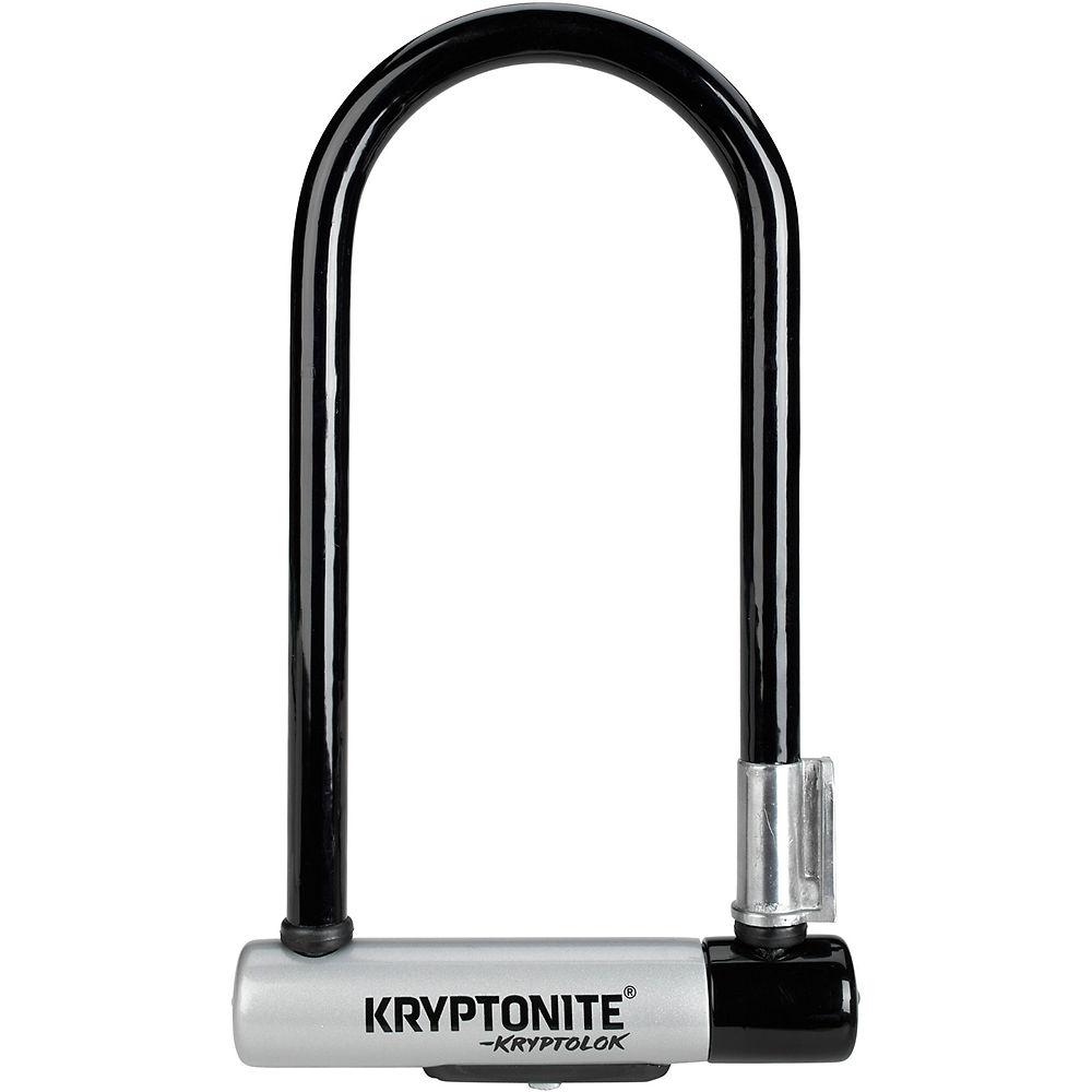 Candado en U estándar Kryptonite (con soporte flexible para el cuadro) - Negro - Plata - Sold Secure Silver Rated, Negro - Plata