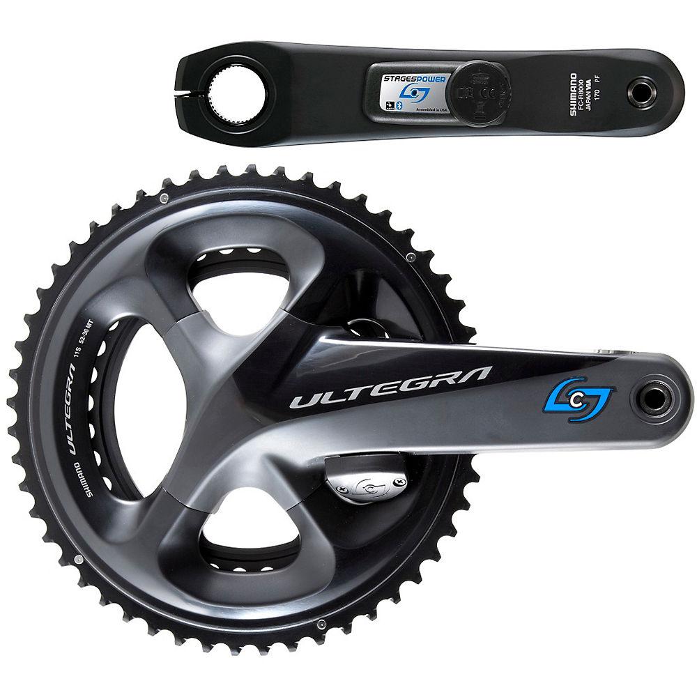 Medidor de potencia Stages Cycling (Ultegra R8000 LR) - Negro - 52.36t, Negro