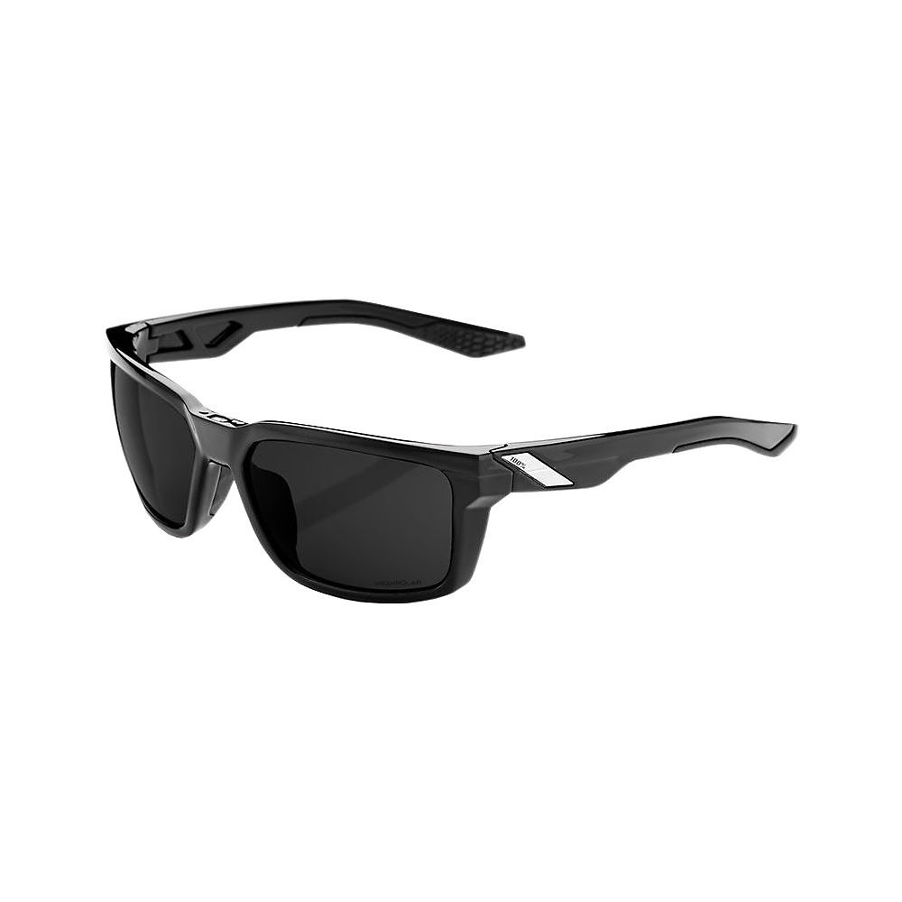 100% Daze - Grey Peakpolar Lens  - Polished Black, Polished Black
