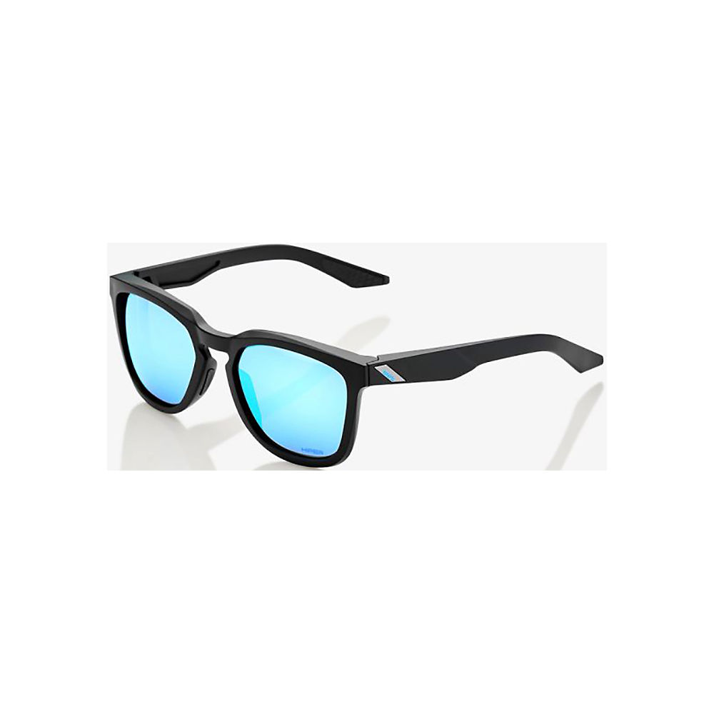 100% Hudson - Hiper Iceberg Blue Mirror Lens  - Matte Black, Matte Black