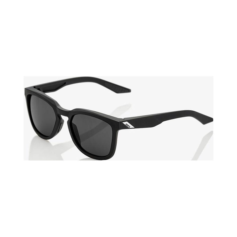 100% Hudson - Smoke Lens  - Soft Tact Black, Soft Tact Black