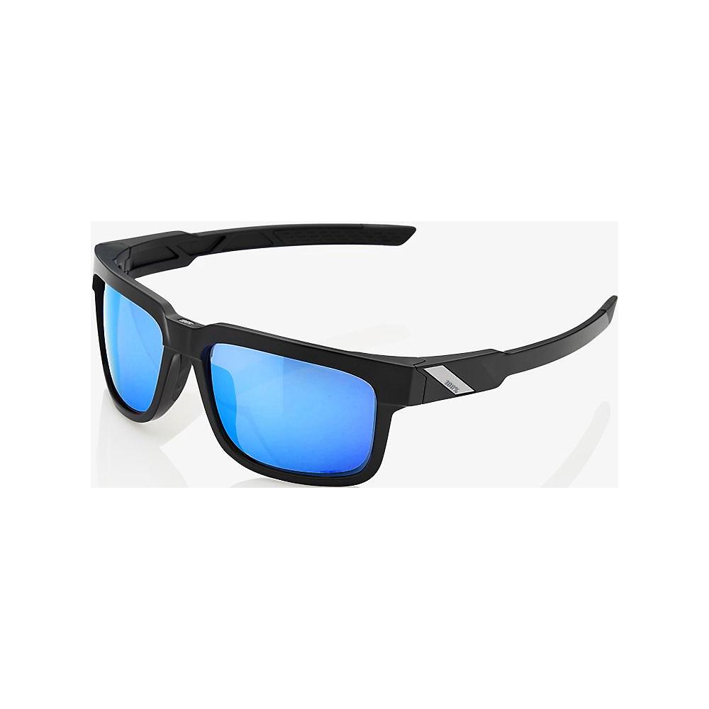 100% Type-S - Hiper Iceberg Blue Mirror Lens  - Matte Black, Matte Black