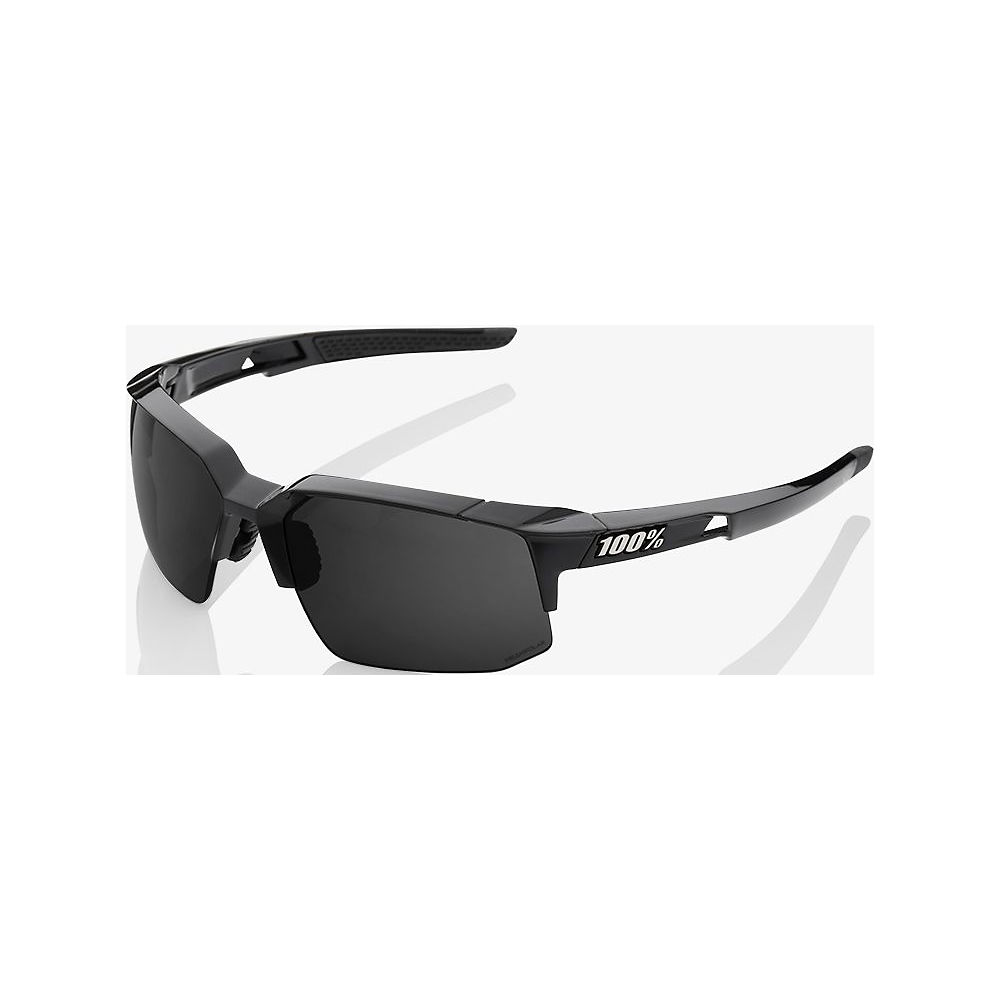 100% Speedcoupe - Grey Peakpolar Lens  - Polished Black, Polished Black