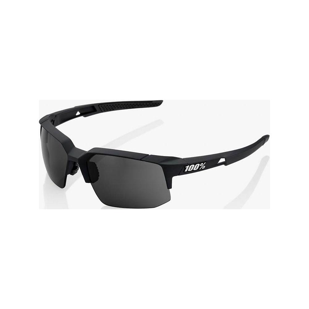 100% Speedcoupe - Smoke Lens  - Soft Tact Black, Soft Tact Black