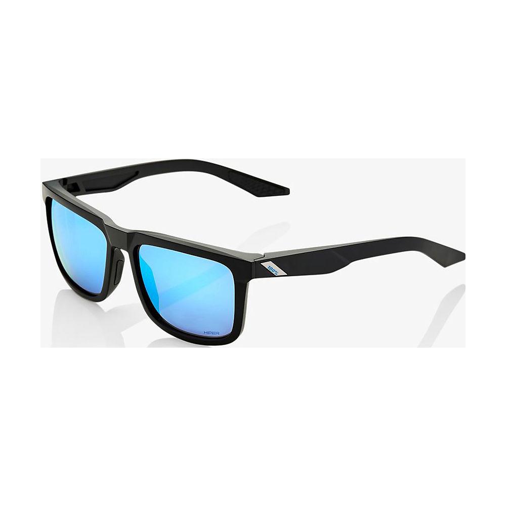 100% Blake - Hiper Iceberg Blue Mirror Lens  - Matte Black, Matte Black