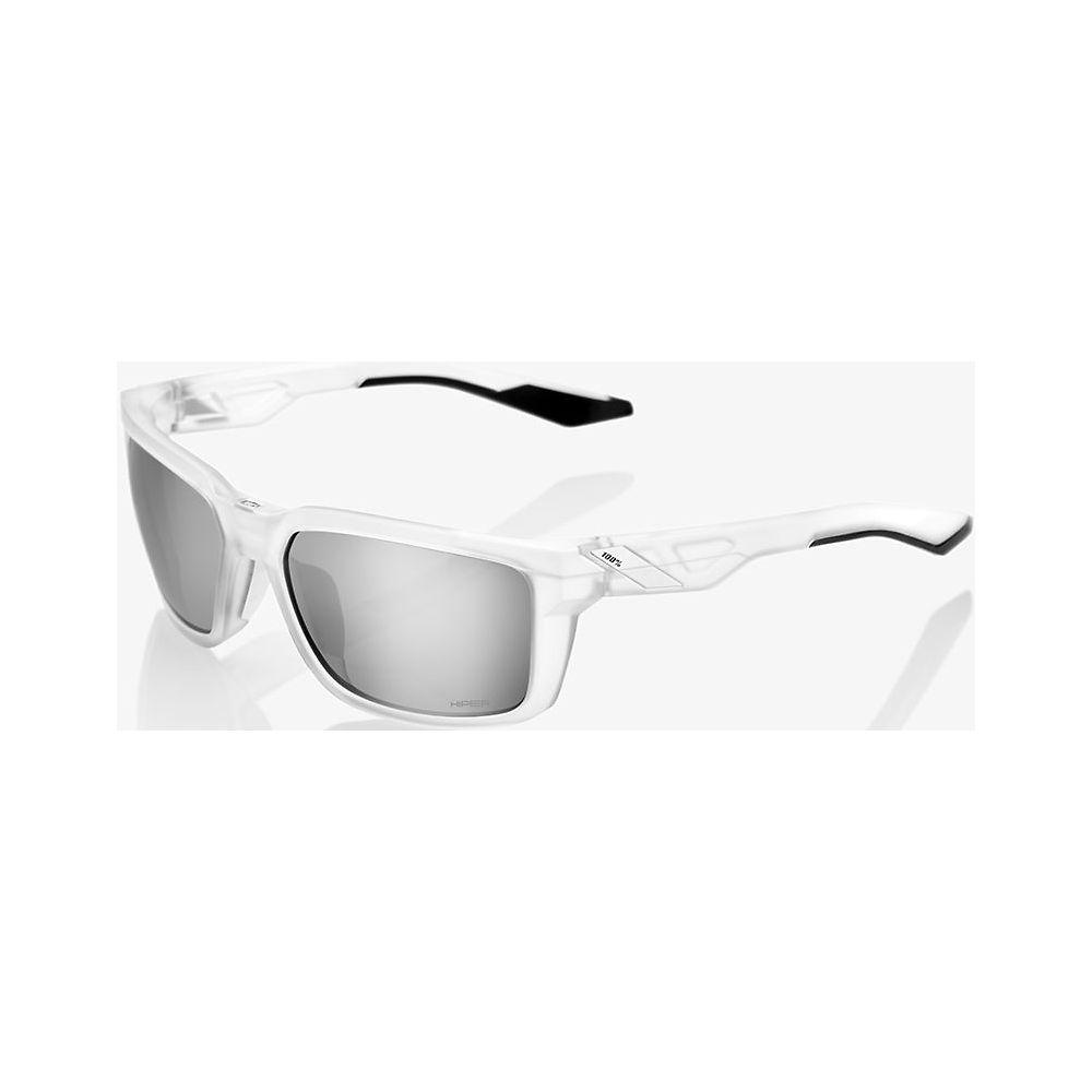 100% Daze - Hiper Sport Silver Mirror Lens  - Matte Translucent Crystal Clear, Matte Translucent Crystal Clear