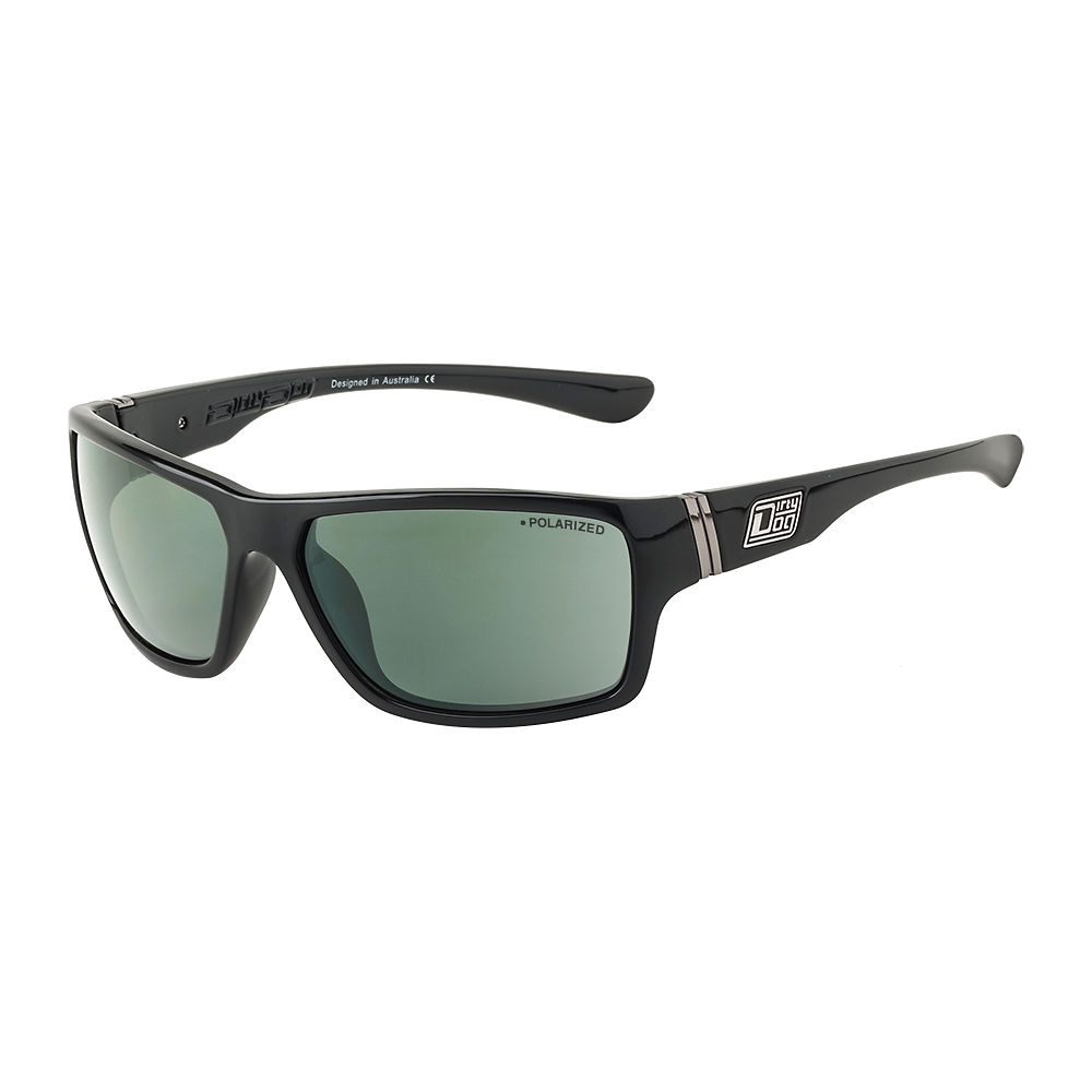Image of Lunettes de soleil Dirty Dog Storm - Black-Green Lens, Black-Green Lens